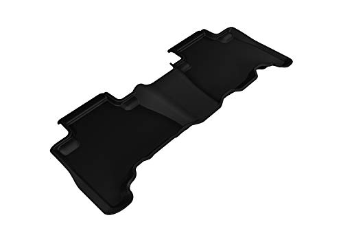 3D MAXpider Second Row Custom Fit All-Weather Floor Mat for Select 4Runner Models - Kagu Rubber (Black)