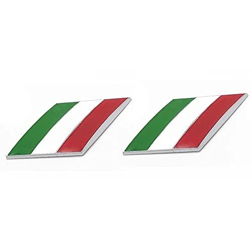 10pcs 3d Etiqueta Engomada Del Coche De Metal,Con El Logo Italy Flag,Para Ferrari Maserati Alfa Romeo FIAT...
