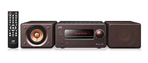 JVC EX-S55-T ウッドコーンシリーズ Bluetooth搭載 ハイレゾ音源再生 録音対応USB端子搭載 コンパクトコンポーネントシステム ブラウン
