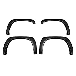 Premium Fender Flares Compatible with 1999-2006 Chevy Silverado/GMC Sierra (Incl. 2007 Classic Models) | Fine-Textured Matte Black Paintable Factory Style 4pc