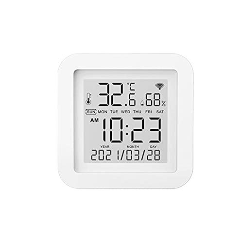 Wednesday - Higrómetro termómetro interior de alta precisión, lectura con monitor de humedad y temperatura, con alerta de notificación para casa, dormitorio, nevera, sótano, invernadero