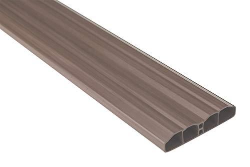 Zaunlatten Sparpaket PZL-09 | widerstandsfähiges Hart-PVC | Kunststoffzaun | Balkonbretter | pflegeleicht | braun klassisch | 80 x 16 mm | Hexim | 20 Meter