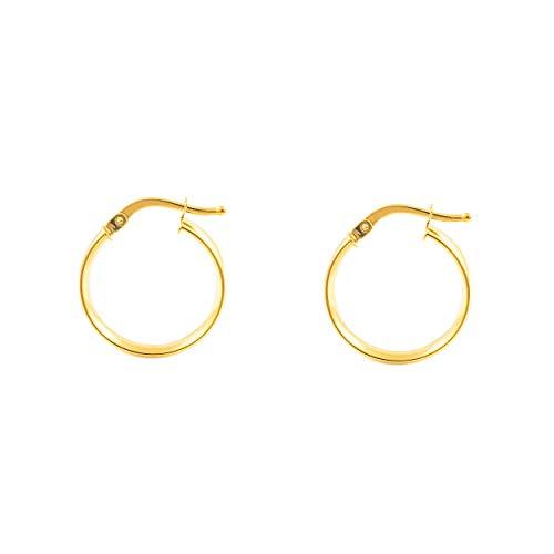 Orecchini a cerchio da donna 18x4 mm - oro giallo 18K (750)