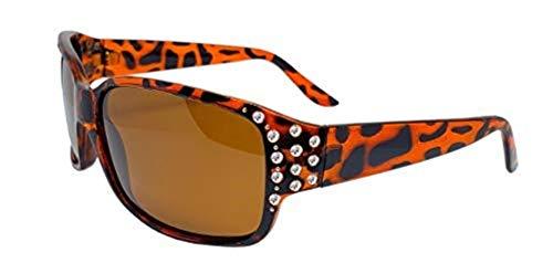 Hornz HZ Serie Diamante – Gafas de sol polarizadas para mujer (Marco de tortuga ámbar - lente ámbar)