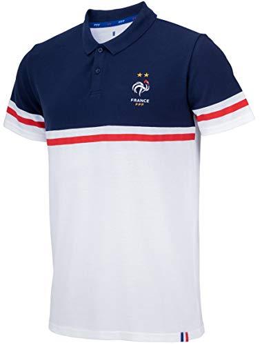 Equipe de FRANCE de football - Camiseta polo de la Selección Francesa de Fútbol (talla de adulto), Hombre, azul, XXL