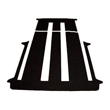 Autix 381382 Komplett Teppich Fußmatte Hinten Kompatibel Für Vw T5 Multivan 2 Schiebetüren Mit Schiebetisch Auto