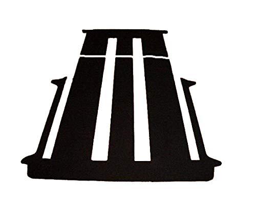 autix Gastraum und Kofferraum Teppich Fußmatte schwarz Velour passend für VW T6 Multivan mit 2 Schiebetüren und Schiebetisch