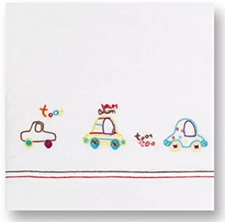 color blanco y lila S/ábanas punto cuna 60 x 120 Pirulos 68303621