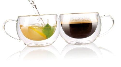 Cucina di Modena Doppelwandiges Kaffee- & Tee-Glas, 2er-Set