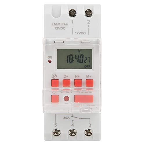 Digitale Zeitschaltuhr, DC 12V 30A 7 Tage Programmierbarer Timer LCD Display Zeitschaltuhr, Timer-Schalter ON/OFF Steuerung