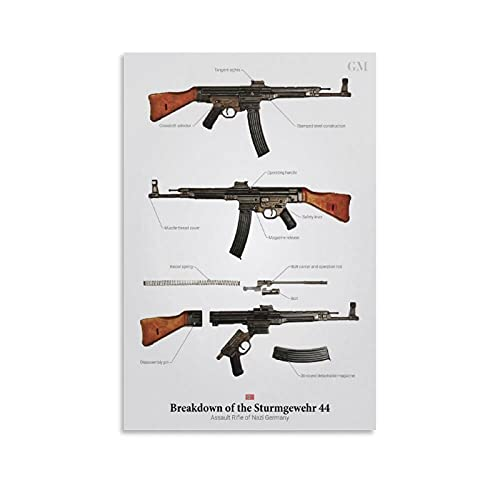 xixiao Breakdown of The STG 44 Posters for Room Poster Decorative Painting Canvas Wall Art Room Posters Wall Art Bedroom Painting08×12inch(20×30cm)