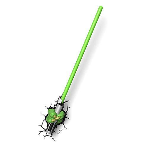 JU FU - Luminaire Applique - Star Wars Yoda Light Épéiste 3D Lampes décoratives Appliques Murales Bureau d'étude Chambre Chevet Veilleuse Créativité Personnalité @ (Couleur : A)