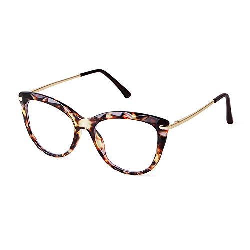 GIFIORE Katzenaugen Brille Damen, Retro Blaulichtfilter Computerbrille,ohne Sehstärke, Blockieren Blaue Licht von PC, TV und Handy