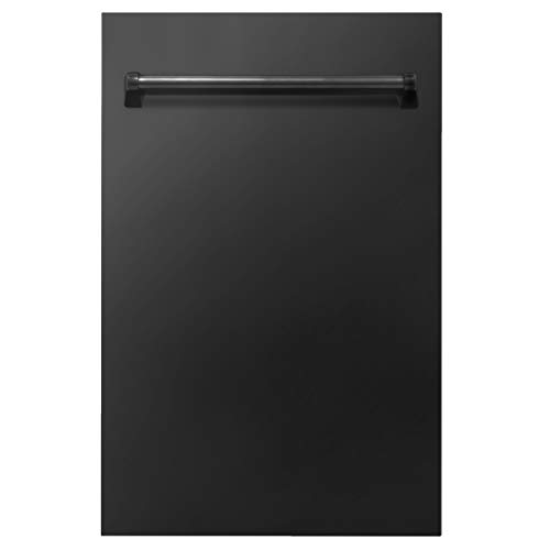 18 in. Compact Top Control Dishwasher in Black Stainless Steel 120-Volt with Stainless Steel Tub and Traditional Style Handle