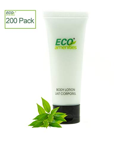 ECO Amenities Transparent Tube Flip Cap Individually Wrapped 30ml Body Lotion 200 Tubes per Case