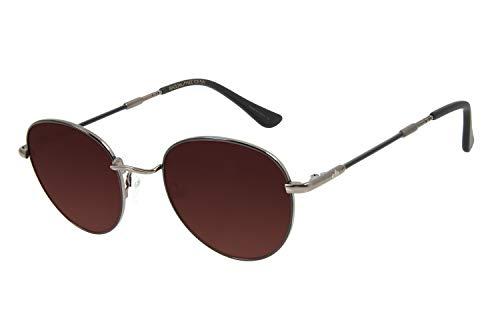 Óculos de Sol Unissex Chilli Beans Redondo Plug Metal Ônix, OCMT2860 5722