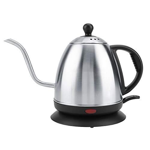 1L Schwanenhals Wasserkocher Edelstahl Gießen Sie über Wasserkocher Schwanenhals Tropfkessel für Tropfkaffee und Tee, 220 V 1000W