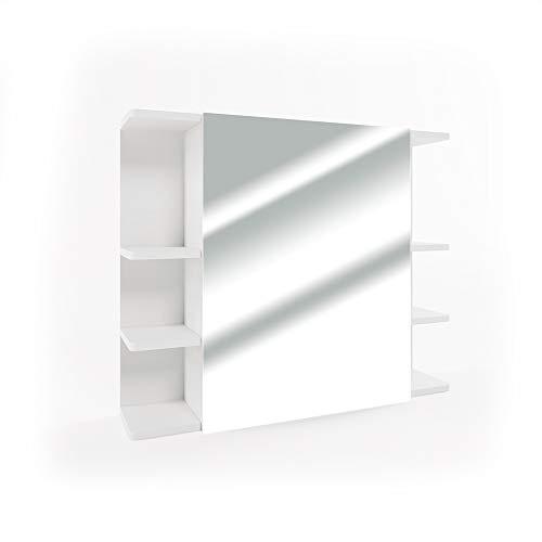 Vicco Armadietto Con Specchio Fynn Specchio per il bagno Bianco Con ripiani