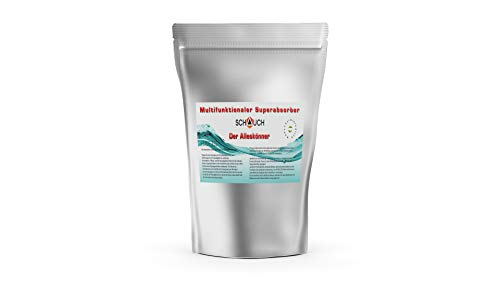 Superabsorber zum Aufsaugen von Urin, Kot, Erbrochenem Entsorgung von flüssigen Ausscheidungen, Ideal für Campingtoilette (1kg)