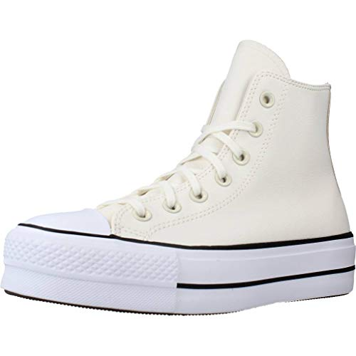 Converse Chuck Taylor All Star Lift Anodized Metals Hi Zapatillas Moda Mujeres Blanco/Beige - 39 - Zapatillas Altas Shoes