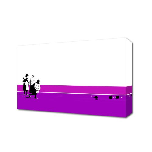 THE VINYL BIZ Banksy Bowling Bombs Purple Canvas Art Print Box Canvas Ready to Hang Banksy, 1.Full Colour, 30 inch x 20 inch