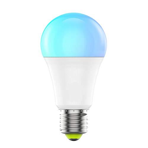 HaoDeng WIFI スマート LED電球 カラフル(1600万色+電球色+昼光色 )AlexaとGoogle Homeで使用 アレクサ対応 60W相当 E26口金 非常灯 玄関灯 家電照明 超省エネライト 調光調色ランプ ワイヤレス リモコン 目覚め タイマー機能