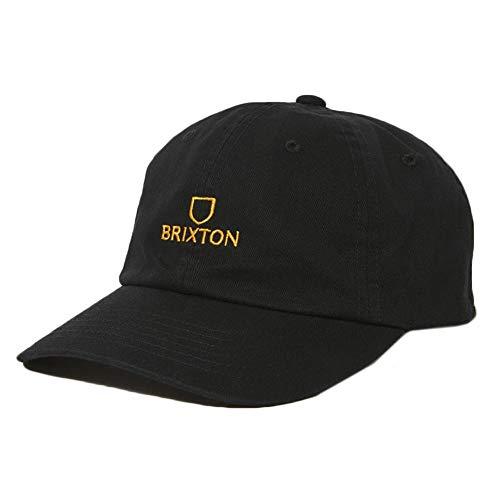 BRIXTON Unisex_Adult Alpha LP Baseball Cap, Black/Gold, One Siz