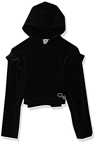 adidas Originals Hoodie Sudadera con Capucha, Negro carbón, Small para Mujer