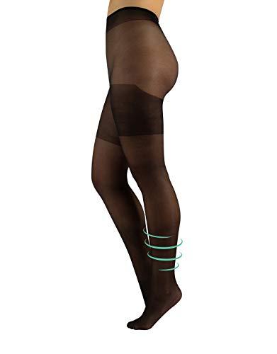 CALZITALY Collant Curvy Taglie Forti Riposanti | Calze per Taglie Comode Opache | Nero | L, XL, XXL | 40 DEN | Made in Italy (XL, Nero)