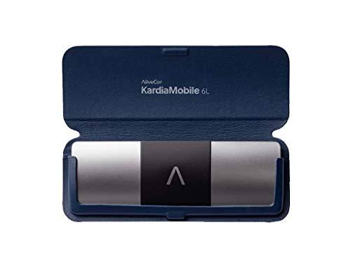AliveCor Kardia Mobile 6L Bundle mit Schutzhülle, Marineblau