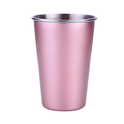 Wffo - Vaso de acero inoxidable para bebidas de zumo y cerveza