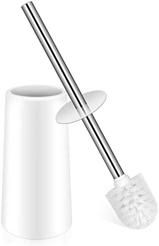 Toilet Brush Toilet Brush with Holder Toilet Bowl Brush with Stainless Steel Handle Durable product image