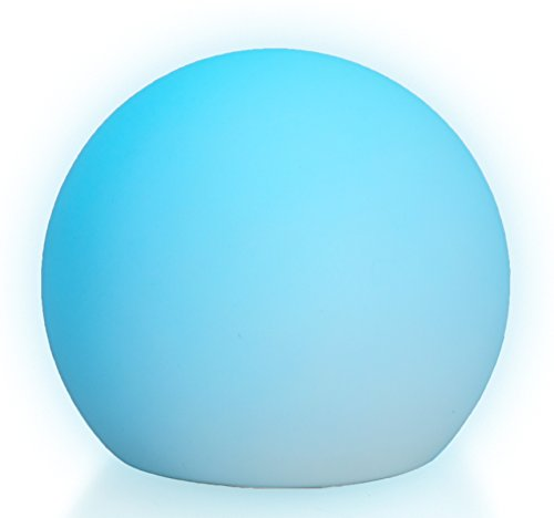 LED Boule Sphère lumineuse Ø 15 cm multicolore RGB 16 couleurs sans câble avec accumulateur et télécommande Etanche et flottant IP65 Extérieur lampe mood ball