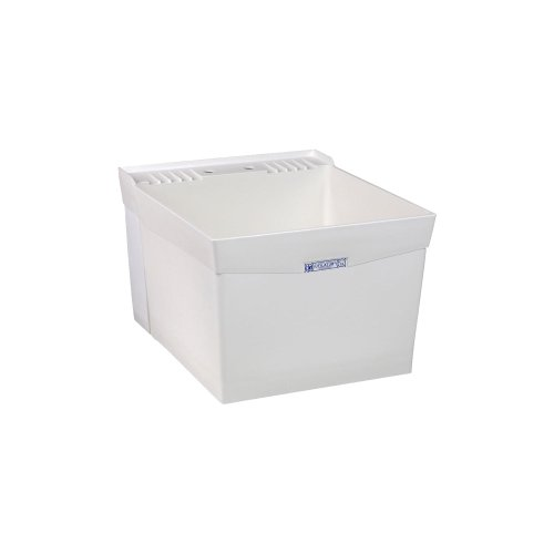 El Mustee 19W Utilatub 18-Gallon Wall-Mount Laundry/Utility Tub, 34 X 20 X 24 In, White