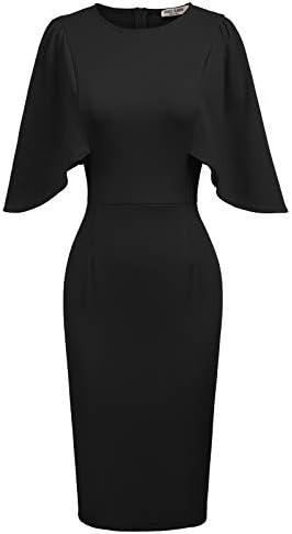 GRACE KARIN Women s Elegant 3 4 Sleeve Wear to Work Casual Pencil Dress XXL Black product image