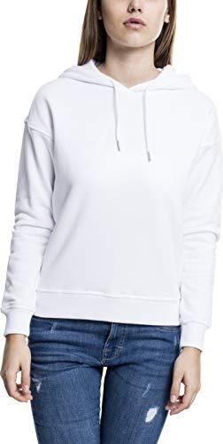 Urban Classics Damen Kapuzenpullover Ladies Hoodie, Weiß (white 220), Medium
