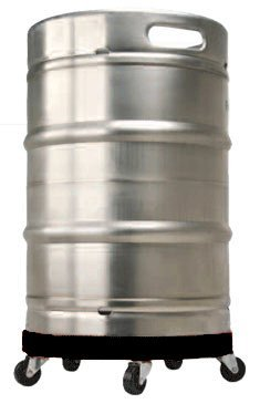 Half-Barrel Keg Dolly - Inexpensive and Easy Way to Move Half-Barrel Kegs and Large Heavy Pots - Transport Kegs from Walk-in to Keg Fridge at Bar - Makes it Easy to Roll Kegs to Mop Cooler Floor