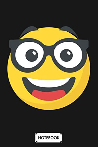 Funny Geek Nerd Face Emoticon Cute Emoticon Nerdy Glasses Notebook: 6x9 120 Pages, Journal, Matte Finish Cover, Planner, Lined College Ruled Paper, Diary