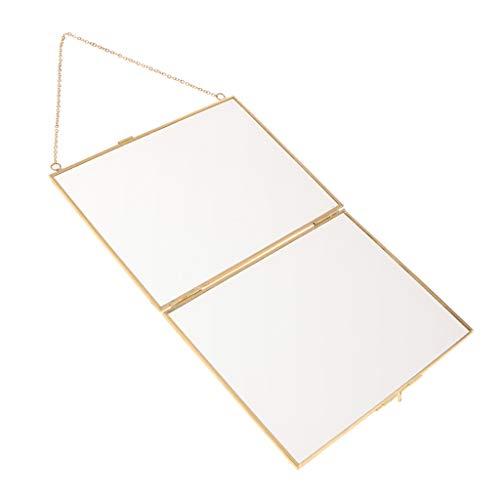 B Blesiya Moderne Metall Glas Hängende Bilderrahmen Fotorahmen zum Aufhängen - A 20x15cm