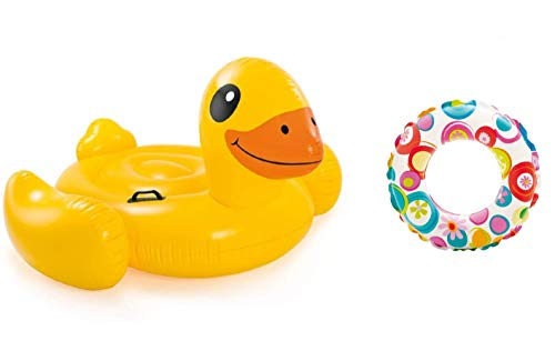 Bavaria Home Style Collection Ente - Pool-Insel Insel Badeinsel, Material: PVC, der Coole Badespass im Pool oder am See der ultimative Badespaß