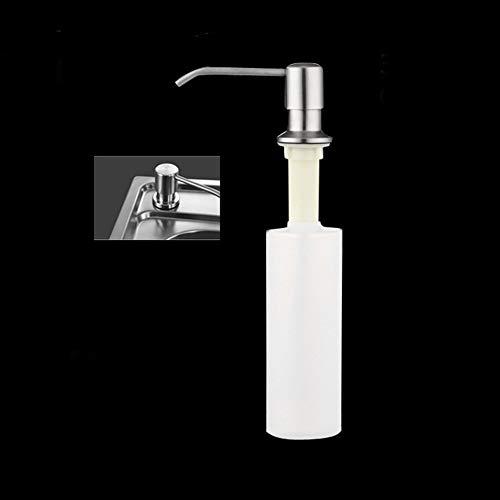 XQxiqi689sy - Dispensador de jabón para fregadero de gran capacidad con bomba de acero inoxidable talla única One Color