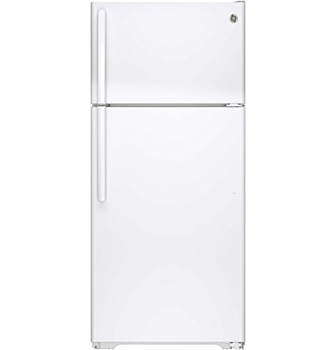 GE GTE16DTHWW 15.5 Cu. Ft. White Top Freezer Refrigerator - Energy Star