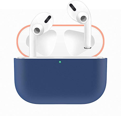 HATALKIN Case Compatible with Airpods Pro Case Premium Silicone Airpod Pro Case Protective Cover for Airpods Pro/Airpods 3 (Front LED Visible) (Won't Affect Wireless Charging) (Orange-Blue)