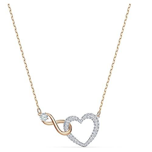 Swarovski Collier Swarovski Infinity Heart, blanc, finition