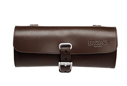 Brooks Challenge - Bolsa de Piel para el sillín, Color Negro marrón marrón