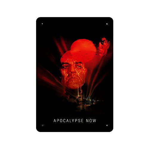 Affiche classique du film « Apocalypse Now » en métal vintage pour pub, club, café, bar, décoration murale 30 x 20 cm