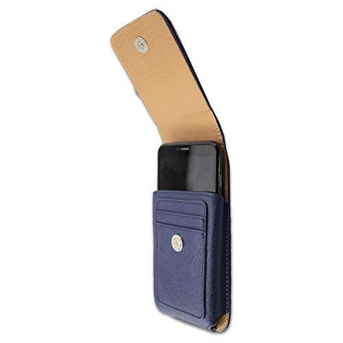 caseroxx Handy Tasche Outdoor Tasche für Energizer Power Max P490, mit drehbarem Gürtelclip in blau