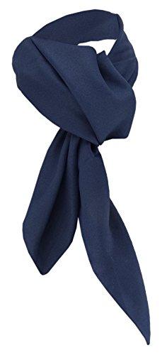 TigerTie Damen Chiffon Halstuch blau marine dunkelblau Uni Gr. 90 cm x 90 cm - Schal