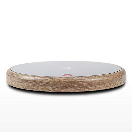 AON-WL 커피 따뜻한 접시 머그잔 따뜻한 전기 집이나 사무실의 책상 커피와 음료를 따뜻하게 유지 4.5 직경(나무) C