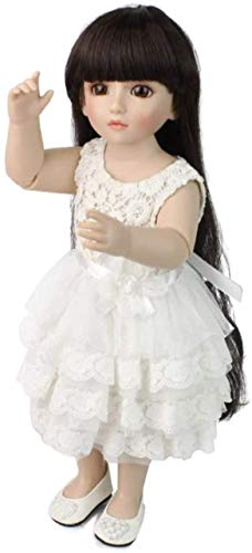 Rebirth Doll Reborn Doll Baby Doll Cute with Clothes Dress Abito Bianco...